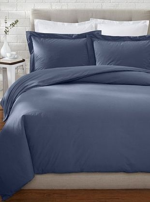 74% OFF Stitch & Loop Vintage Percale Duvet Set (Indigo)