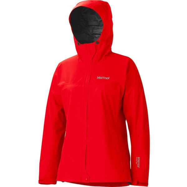 Marmot Minimalist Jacket (190 CAD) ❤ liked on Polyvore featuring shrug cardigan, cardigan shrug, red shrug cardigan and red shrug