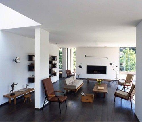 .: Decor, Interiors, Livingroom, Dark Wood Floors, Living Room, Dark Floors, House