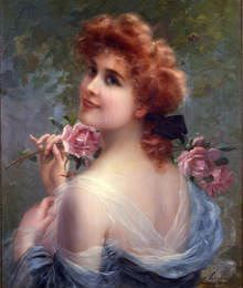 "painting by emile vernon | Photo of ""ENGLISH ROSE"" by EMILE VERNON"