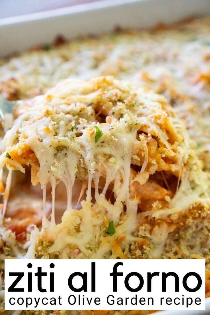 Copycat Olive Garden Five Cheese Ziti al Forno recipe is