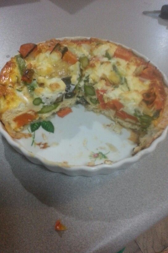 12wbt roast vegetable quiche