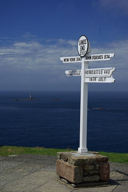 Land's End , Cornwall with the Longships Lighthouse about a mile offshore.