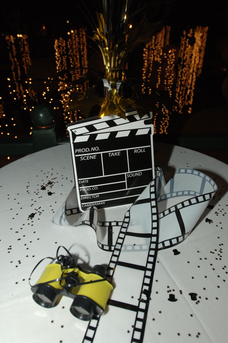 Centerpiece Ideas Director S Clapboard With Film Strip