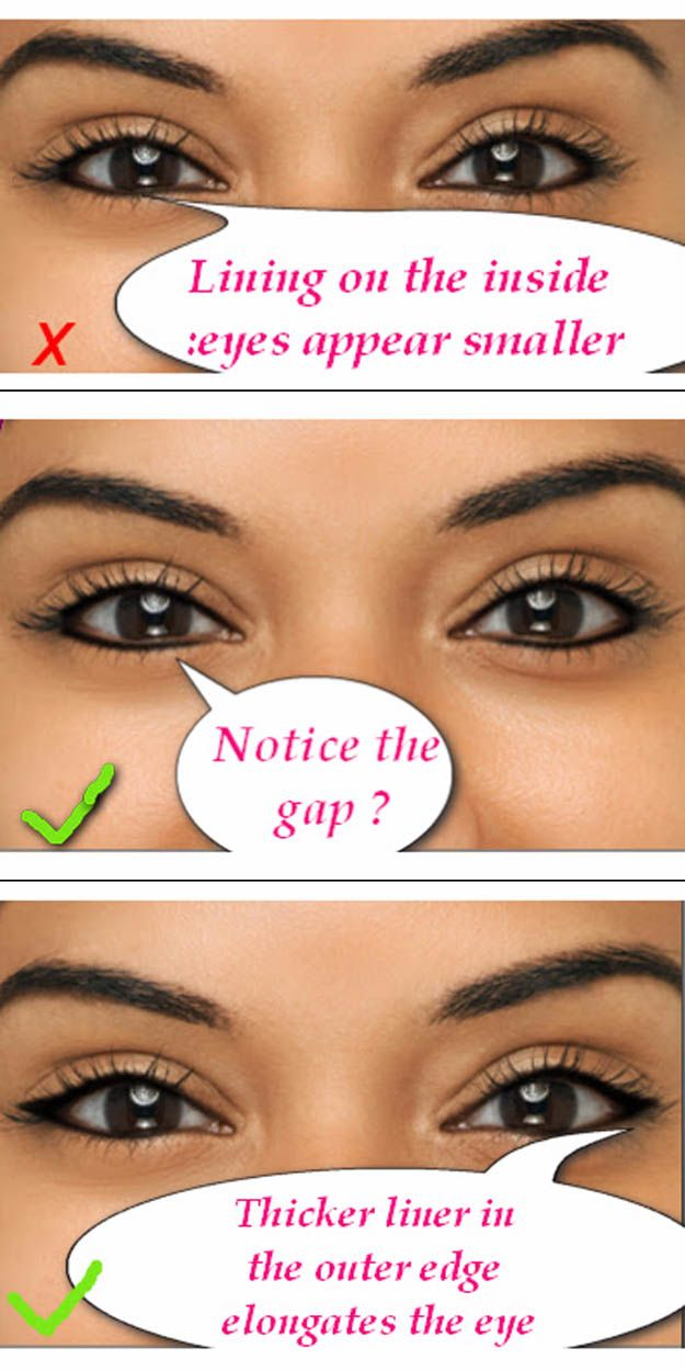 Makeup Tutorials For Small Eyes - Small Eyes, Eye Makeup- Easy Step By Step Guides On How to Apply Eyeliner and Get Perfect Lashes and Brows and How To Make Your Eyes Look Bigger - Beauty Tips for All Different Faces - Eyebrows and Cut Crease Youtube Videos for Girls - thegoddess.com/makeup-tutorials-small-eyes