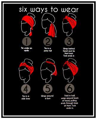 6 Ways To Wear A Head Wrap. I mostly do 3 & 4