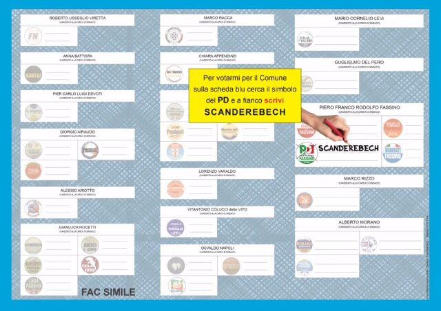 Domenica dalle 7 alle 23 posso essere votata in tutta Torino sulla scheda blu! Cerca il simbolo del PD e accanto SCRIVI Scanderebech!!! Passaparola! Grazie!!! #torino #elezioni #pd #fassino #peramoreditorino #scanderebech