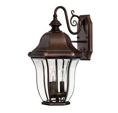 Hinkley Lighting Monticello 3 Light Outdoor Wall Lantern In Copper Bronze