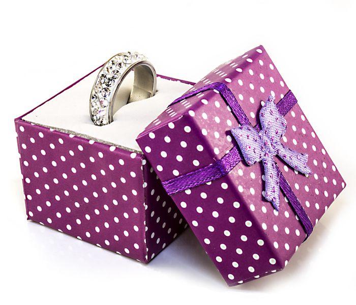 Bizsu Gyűrűk Brenda ezüst fehér