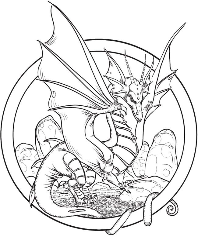25 unique Dragon coloring page ideas on Pinterest  Coloring