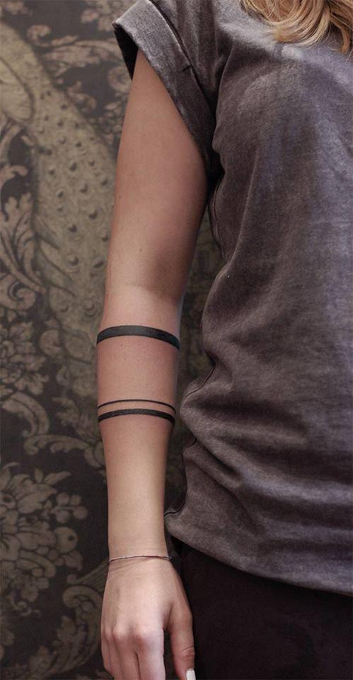 thin triple armband