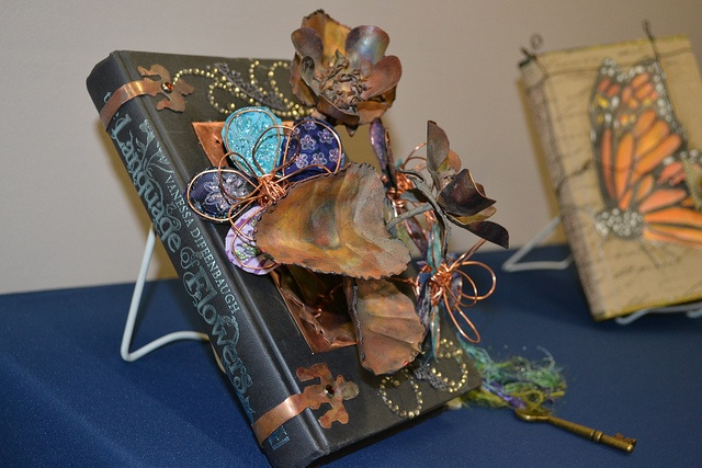 An altered book on display during the Lit Fest Opening Party in October 2012