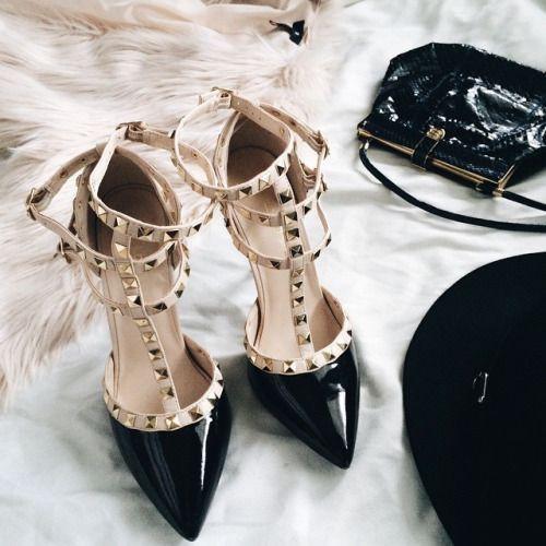 black valentino studs sandals valentino rockstuds heels httpwwwjusttrendygirls