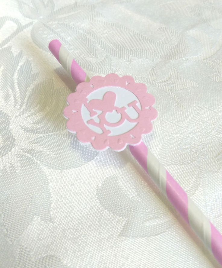 Heart I Love You 20 Paper Striped Straws Wedding Engagement Valentine Ready2 Use