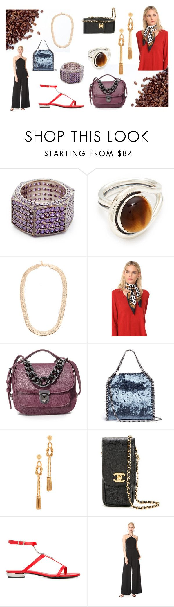 """""""Passion for fashion"""" by justinallison ❤ liked on Polyvore featuring Joanna Laura Constantine, Pamela Love, Vanessa Mooney, Marc Jacobs, Deux Lux, STELLA McCARTNEY, Tory Burch, Chanel, La Perla and T By Alexander Wang"""