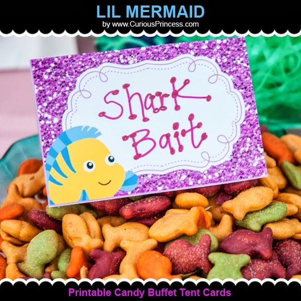 Glittery Lil Mermaid Birthday Party ideas!  by Curious Princess at www.CuriousPrincess.com