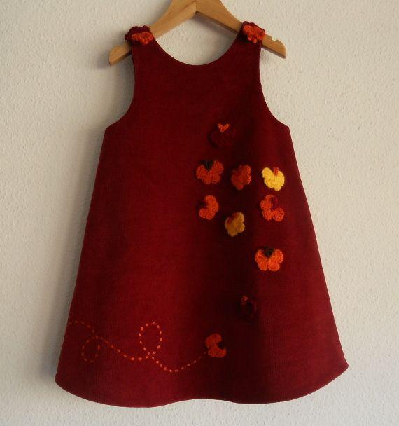 Pichi granate Borboletas, Niños y bebé, Ropa, Ropa, Vestidos