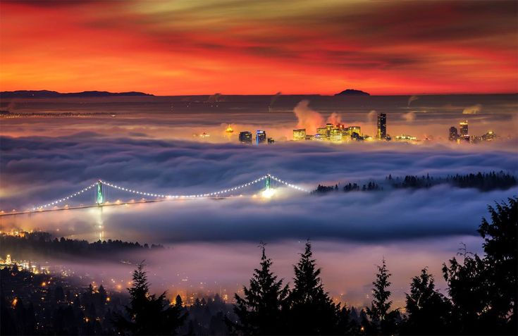 Downtown Vancouver Under Blanket Of Fog By Alexis Birkill