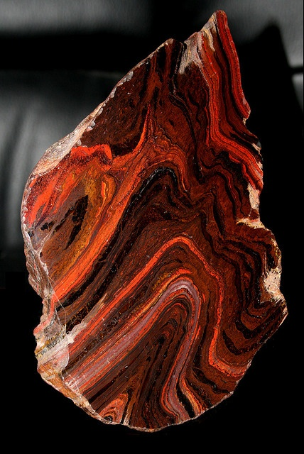 Banded ironstone, Australia (BIFs are so pretty and the remind me of the beginning of life as we know it)