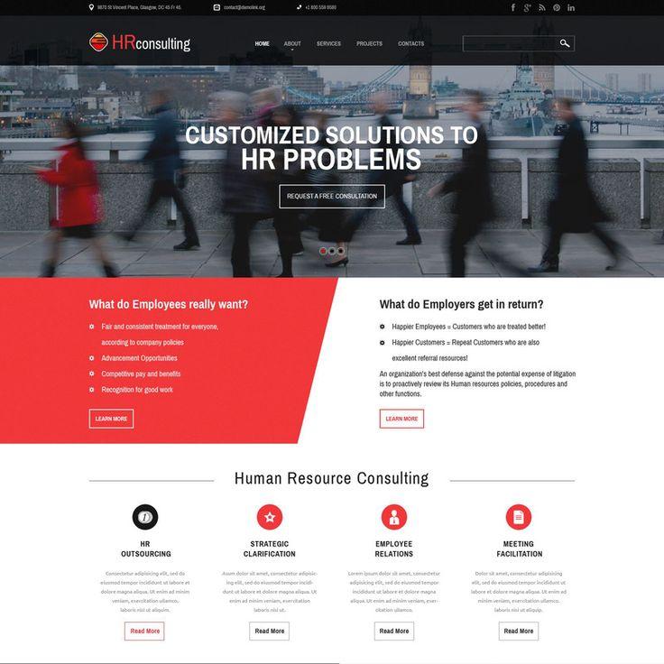 Public Relations Bootstrap Website Template Small Screenshot