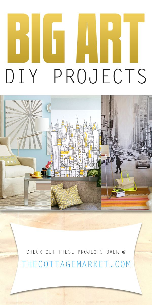 Looking for some art that will really POP and truly make your room unique and fabulous? Then take a peek at today's collection of Big Wall Art DIY Projects!
