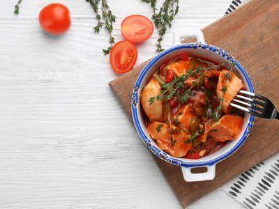 Crockpot Chicken Tomato Stew