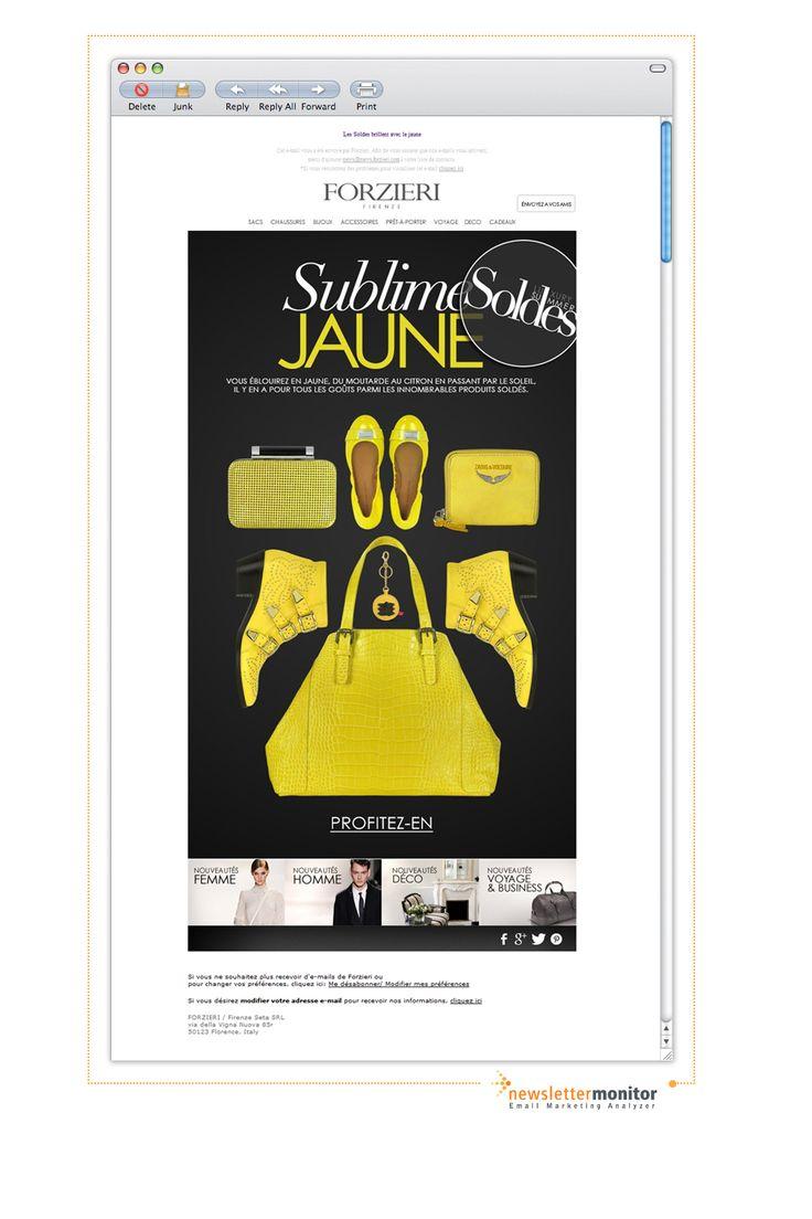 Brand: Forzieri | Subject: Les Soldes brillent avec le jaune