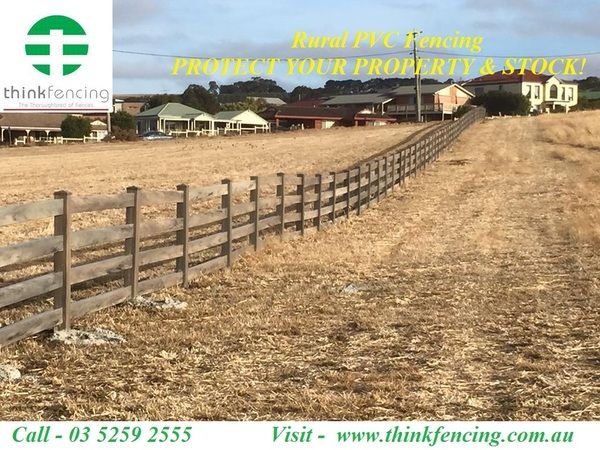 Best Way to Install Farm & Rural PVC Fencing In Australia  Think Fencing is best Way to Install Farm & Rural PVC Fencing in Australia. Every fence design is exclusively tested and proven; every piece of fencing carries our quality guarantee.