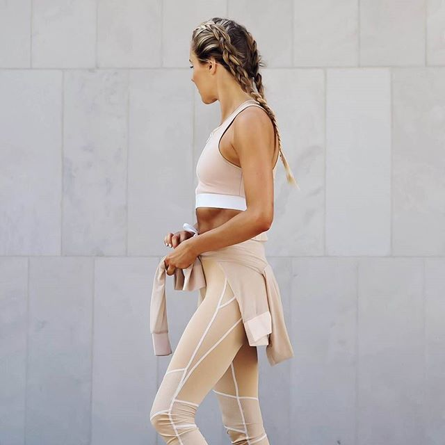 @fakander beige is back! Your favourite Mesh Panel Leggings £22.99 have been restocked in all sizes. Shop gym outfits: manieredevoir.com #manieredevoir #fitness #fitspo