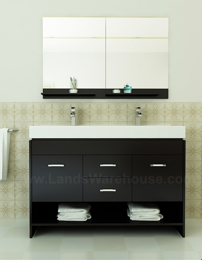 Perfect I Have Been Going Crazy Looking For A Right Sink Offset Vanity In White With A Bottom Shelf For Some Reason They Are Only  Httpwwwhouzzcomphotos48520490Winterfell36SingleBathroomVanityCabinetinWhitetransitional
