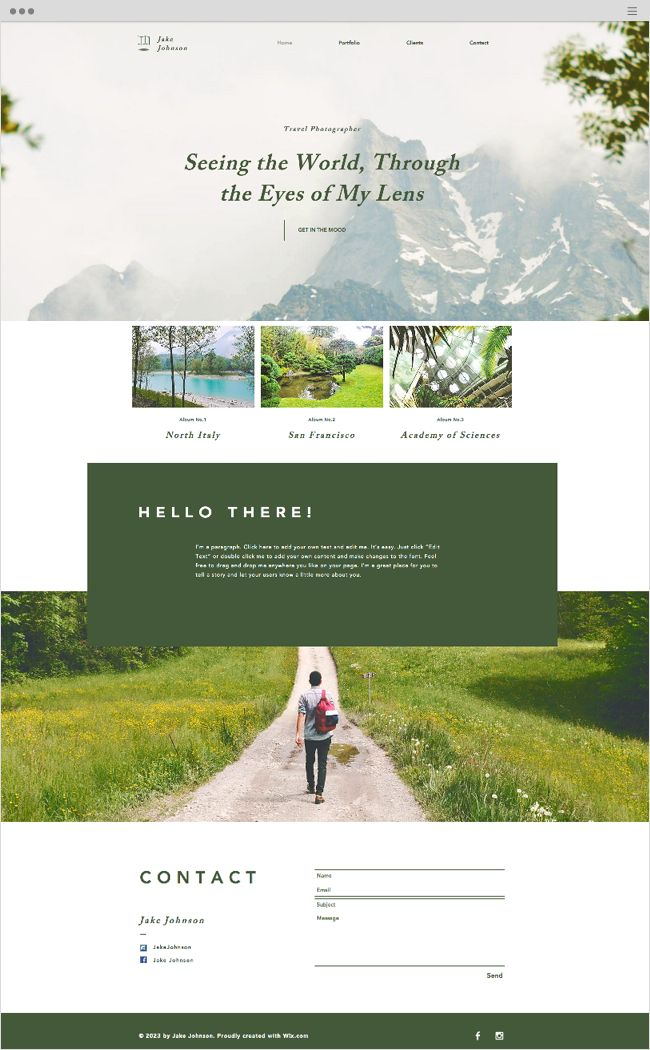 Travel Photographer Website Template