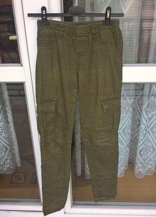 Kup mój przedmiot na #vintedpl http://www.vinted.pl/damska-odziez/spodnie-typu-proste/19108919-spodnie-bojowki-khaki-marki-pieces-m