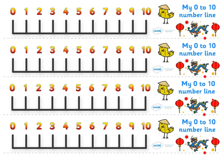 Chinese New Year Number Line 0 10 Pop Over To Our Site