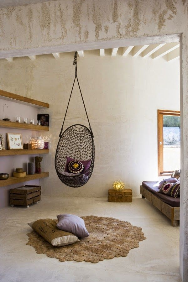 Hanging chairs for bedrooms are making a