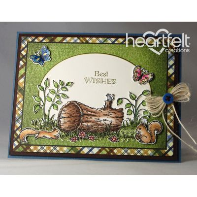 Heartfelt Creations - Best Wishes Woodsy Scene Project
