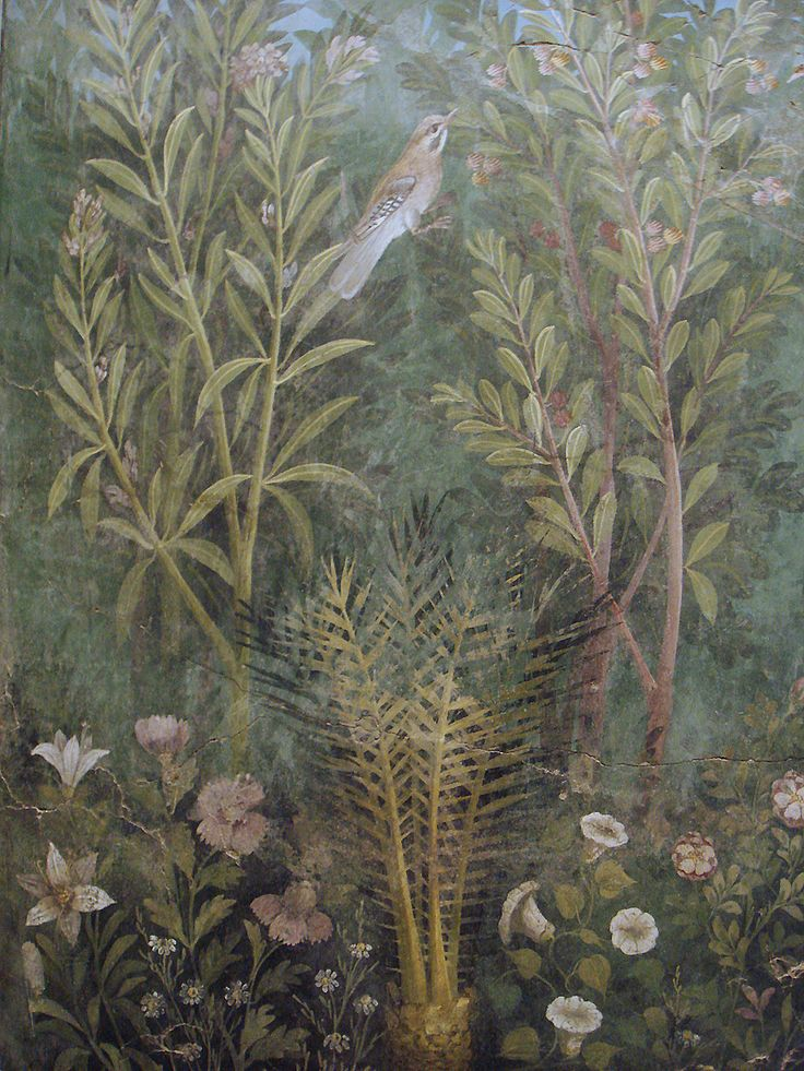 Bird from a fresco in the House of the Golden Bracelet. Pompeii (100 BC - AD 100)
