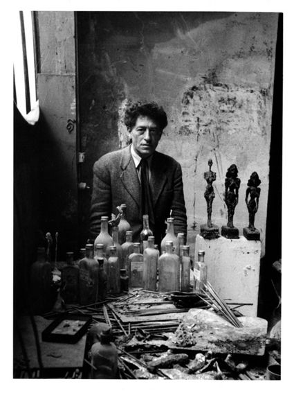 Sabine Weiss, portrait de Giacometti, 1954