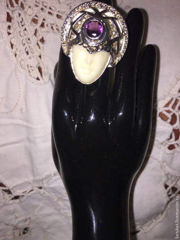 Купить КОЛЬЦО БОГИНЯ СЕРЕБРО 925 ВИНТАЖ - серебряный, кольцо, винтаж, винтажный стиль