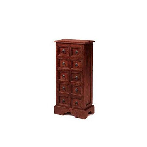 Heritage Furniture UK Delhi Indian 10 Drawer CD Storage Unit