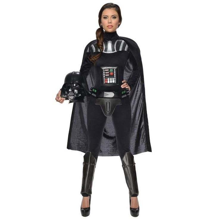 Ladies, transform yourself into Darth Vader and show the guys they're not the only ones who can be a Sith Lord. Let the power flow through you and have fun with the Dark Side.  The rebels won't stand a chance against you in this bold black bodysuit and futuristic armor. A Jedi and Sith's signature piece is their lightsaber so make sure not to embark on your journey without one. Go an extra step and add the Darth Vader Voice Changer for a little extra fun and authenticity.
