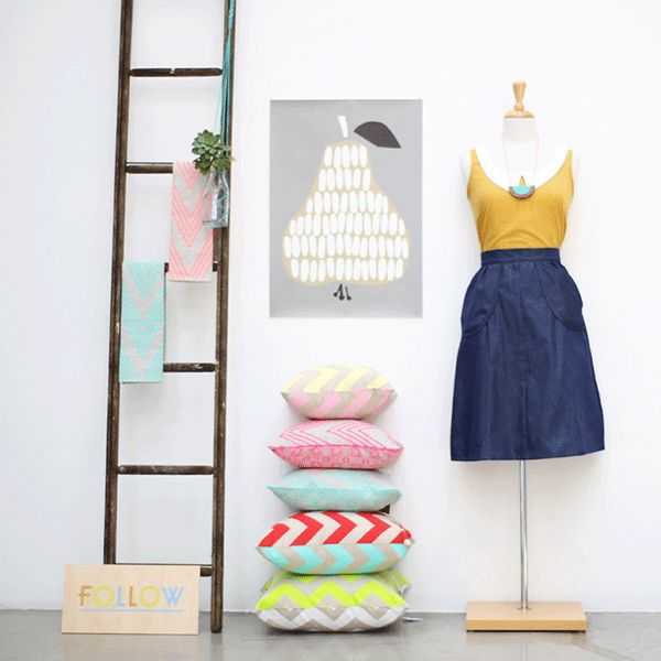 Follow Store ....featuring our Amira cushions and Dahlia tea towels