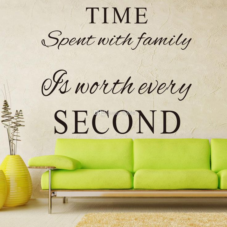 Time Spent With Family Is Worth Every Second Vinyl Wall Decals Quotes Words  Art Decor Lettering Part 80