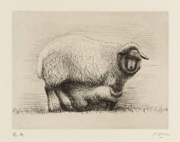 Henry Moore OM, CH 'Sheep with Lamb III', 1972 © The Henry Moore Foundation, All Rights Reserved, DACS 2014