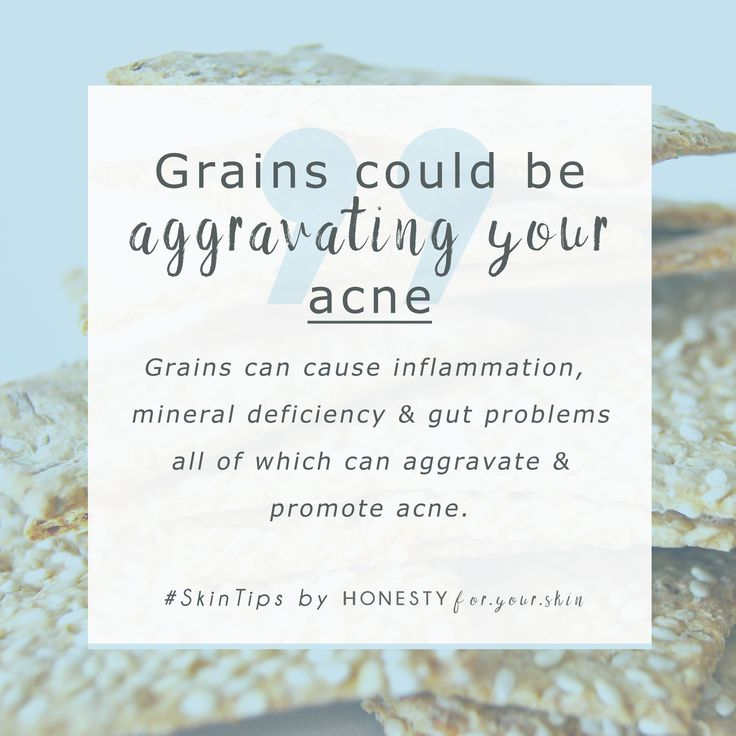 I promise, grains are a food group which right now you have a lot of in your diet... and they could be causing you skin disasters. Acne, spots, blemishes. Click the picture to learn the how and why and exactly what to do to take back control.