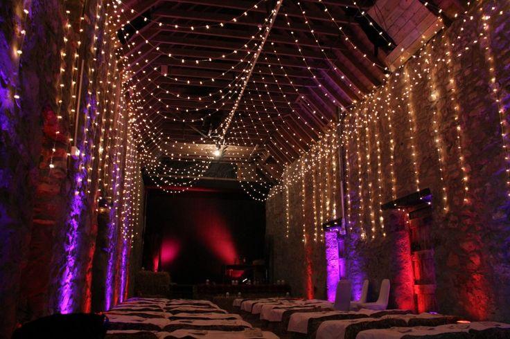 What an amazing venue & lighting! Festival Wedding Venue – Bogbain Farm in Scotland