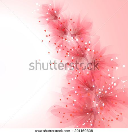 EPS 10. Contains transparent objects. Vector background with pastel flowers