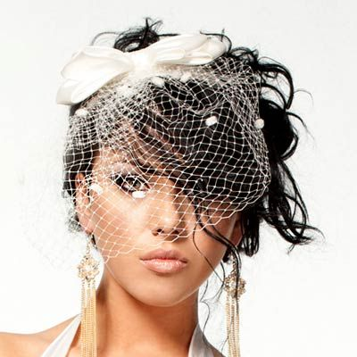 Updo Hairstyles For Weddings With Birdcage Veil