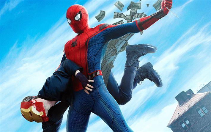 Descargar fondos de pantalla Spider-Man De Regreso A Casa, 2017, Tom Holland, Peter Parker, De Los Cómics De Marvel