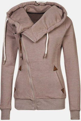 Casual Style Solid Color Long Sleeves Hoodie For Women Sweatshirts & Hoodies   RoseGal.com Mobile
