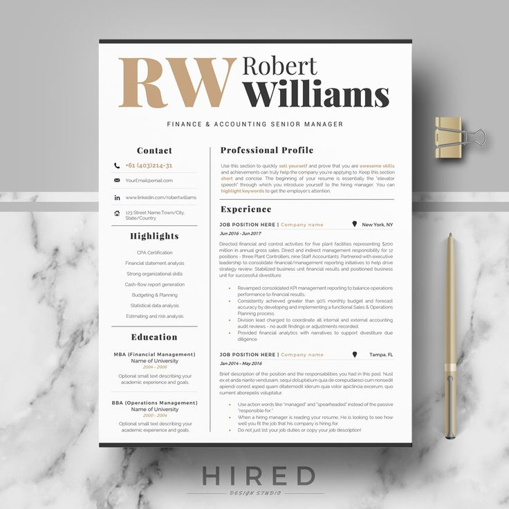 21 best Nurse Resume Templates images by Hired Design Studio on ...